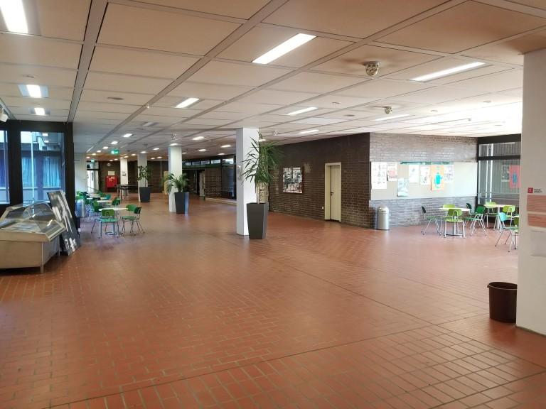 Verlassenes Foyer der CBS in Zeiten der Corona-Krise
